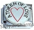 A TOKEN OF LOVE Heart Enamel Italian Charm 9mm - 1 x LV062 Single Bracelet Link