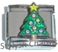 CHRISTMAS TREE WITH STAR Enamel Italian Charm 9mm- 1x NC060 Single Bracelet Link
