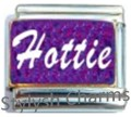HOTTIE PURPLE SPARKLE Enamel Italian Charm 9mm - 1 x NC188 Single Bracelet Link