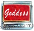 GODDESS RED SPARKLE Enamel Italian Charm 9mm - 1 x NC191 Single Bracelet Link