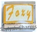 FOXY WHITE SPARKLE Enamel Italian Charm 9mm - 1 x NC192 Single Bracelet Link