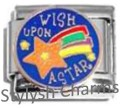 WISH UPON A SHOOTING STAR Enamel Italian Charm 9mm-1x NC198 Single Bracelet Link