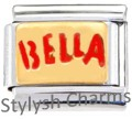 BELLA BEAUTY BEAUTIFUL GIRL Enamel Italian Charm 9mm - 1 x NC261 Single Link