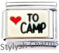 CAMPING LOVE TO CAMP OUTDOORS Enamel Italian Charm 9mm - 1 x NC266 Single Link