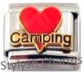 CAMP LOVE CAMPING OUTDOORS Enamel Italian Charm 9mm - 1 x NC267 Single Link