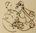 Gold Bride & Groom Wedding Stickers Scrapbook Card Making