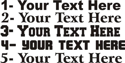 Different fonts.jpg 6/2/2009