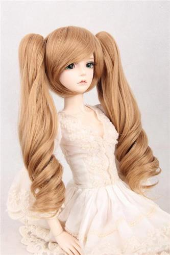 "97# Flax Short Wig&Pin With Wave Hair For 1/4 MSD AOD DOD DZ BJD Dollfie 7""-8"""