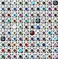 Lots Round Glass Eyes Wholesale BJD AOD Doll Dollfie Outfit Random Color