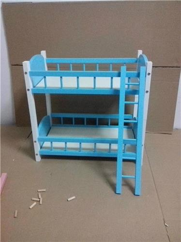 87 Blue Wood Bed Bunk Frame Double Decker For 1 4 6 Bjd Msd Od Dollife