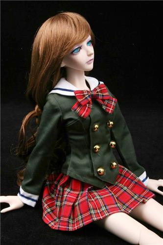 288# Green Dress/Suit/Outfit 1/4 MSD DOD DZ BJD Dollfie