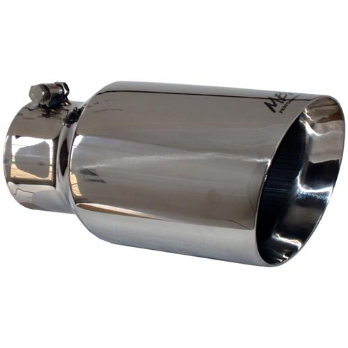 """MBRP T5072 Tip 6/"""" O.D Dual Wall Angled 4/"""" inlet 12/"""" length T304 Stainless"""