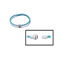 Blue Woven Bead Bracelet With Magnetic Clasp