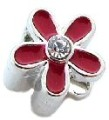 Red Daisy Bead