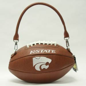 NCAA Ladies Handbag Crossbody Kansas K-State Wildcats Football Purse