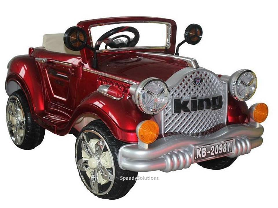 classic convertable ride on power car kids wheels remote control led lights mp3