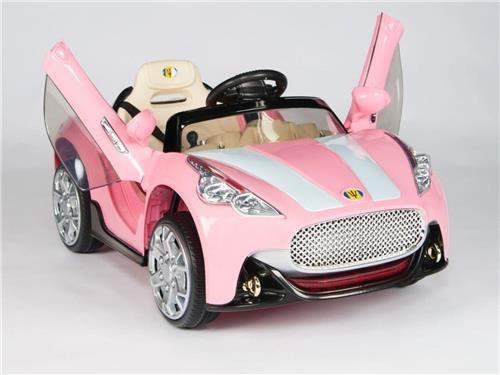 Pink Maserati Style 12V Kids Ride On Car Battery Power Remote Control R/C Wheels