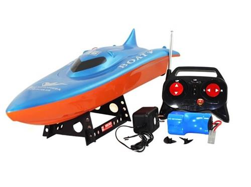 Double Horse RC Remote Control Speed Boat Fast Twin Engine Power Blue