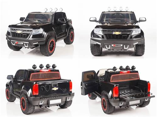 12V Kids Chevy Colorado Style  Pickup Truck 4X4 Power Ride On Car R/C Wheels