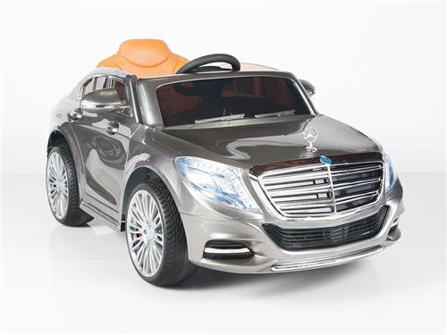 Kids Real Mercedes Benz Power Ride On Car S600 RC Remote Control  Wheels Silver