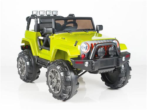 Kids 12v Power Jeep Style Car Parental R/C Remote Control Ride On Green
