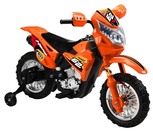 Kids Battery Power Ride on Motorcycle Dirtbike Wheels ORANGE Electric Dirt Bike
