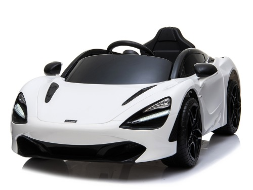 McLaren 720S 12V Kids Electric Ride On Car with Remote Control - Painted White 079