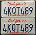 California Sesquicentennial - 150 Years 4KQT489 Pair