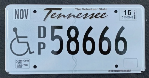 Tennessee Disabled DP58666 '16