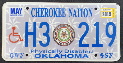 Cherokee Nation Physically Disabled H3 219 '18