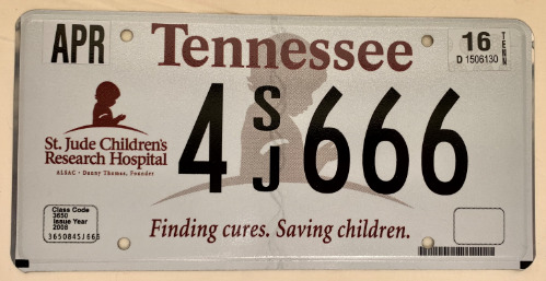 Tennessee St. Jude Childrens Research Hospital 4SJ666 '16