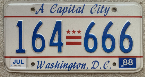 District Of Columbia 164-666 '88