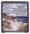 Footprints In The Sand Inspirational Tapestry Throw
