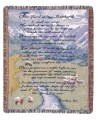 Personalized 23rd Psalm Tapestry Throw