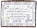 Personalized Baby Lamb & Teddy Bear Tapestry Throw