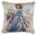 Angels of Hope Blue Angel Inspirational Decorative Tapestry Pillow