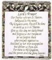 Lord's Prayer Inspirational Tapestry Throw