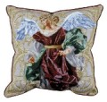Angels of Hope Red Angel Inspirational Decorative Tapestry Pillow