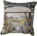 Trust In The Lord Garden Inspirational Decorative Tapestry Pillow