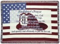 Personalized Firefighter US Flag Tapestry Throw