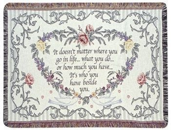 Personalized Anniversary Tapestry Throw