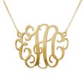 Personalized XXL Hollywood 18K Gold Over Sterling Silver Monogram Necklace