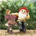 GARDEN GNOME GREETING SIGN (2)