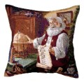 The List Christmas Santa Decorative Tapestry Pillow