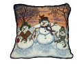 Snowman Christmas Decorative Tapestry Pillow