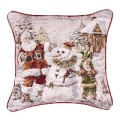 Santa's Helpers Christmas Decorative Tapestry Pillow