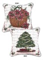 Traditions Of Christmas 2 Sided Tree Basket Decorative Tapestry Pillow