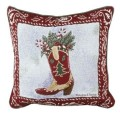 Happy Cowboy Western Christmas Decorative Tapestry Pillow
