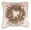 In Everything Give Thanks Fall Decorative Tapestry Pillow
