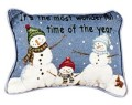 It's The Most Wonderful Time Christmas Decorative Tapestry Pillow